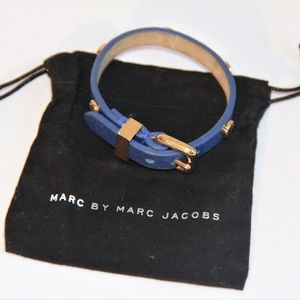 Marc by Marc Jacobs Blue Leather Bracelet